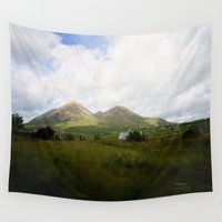 scotland Wall Tapestries featuring Somewhere in Scotland by Jane Lacey Smith