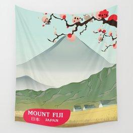 mount fiji Japan vintage travel prin Wall Tapestry