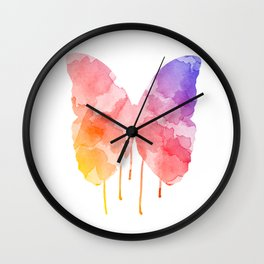 Dripping Butterfly  Wall Clock