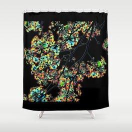 Mismatch Color Hatch Shower Curtain