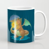 charizard Mugs featuring Charizard by Jeanette Aga