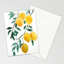 yellow lemon 2018 Stationery Cards