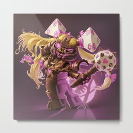 The Nefarious Nega-BlokTrix Metal Print