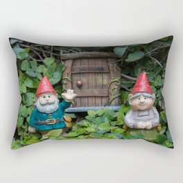 Welcome Gnome Rectangular Pillow