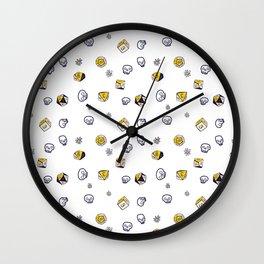 Dice, Daisies, and a lot of Skulls Wall Clock