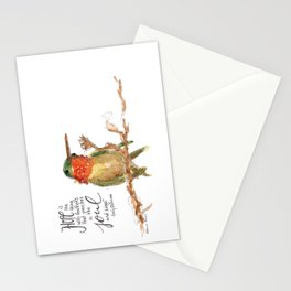 "Emily Dickinson ""Hope"" Hummingbird Stationery Cards"