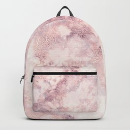 Elegant rose faux gold pink gray luxury marble pattern Backpack