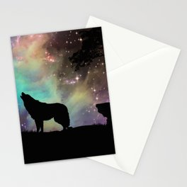 Galaxy wolf | Wolf | Powerful wolf | Wolf love | Wolfsbane | Lycan Stationery Cards