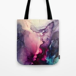 Mission Fusion - Mixed Media Painting Tote Bag