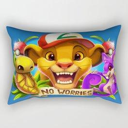 Kakuna Rattata Rectangular Pillow