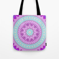 girly Tote Bags featuring Girly mandala by David Zydd