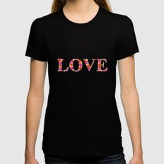 LOVE Black Womens Fitted Tee LARGE