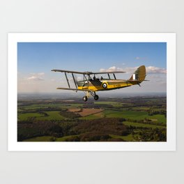 Tiger Moth in flight Art Print