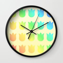 Botanical Pattern 4 Tulipo Spectrum Wall Clock