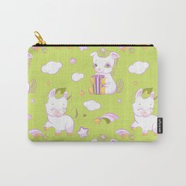 Cute little unicorns green seamless pattern Carry-All Pouch