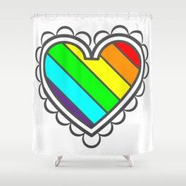 Heart in Fashion Modern Style Illustration Shower Curtain