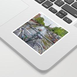 Amsterdam Bridge Canal View Sticker