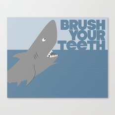 Kids' Bathroom - Brush Your Teeth Canvas Print