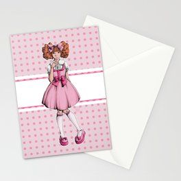 pink dots Stationery Cards