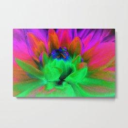 Solarized Begonia Metal Print