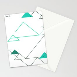 Tree Angle Green Stationery Cards