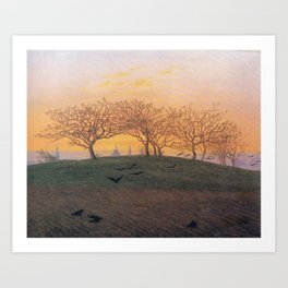 Caspar David Friedrich Hill and Ploughed Field near Dresden Art Print