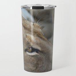 Lion with her Cub Travel Mug