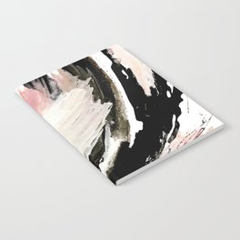 Crash: an abstract mixed media piece in black white and pink Notebook