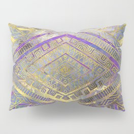 Tribal  Ethnic Boho Pattern gold and gentle purples Pillow Sham