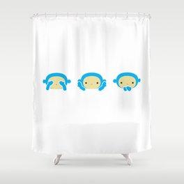 3 Wise Monkeys Shower Curtain