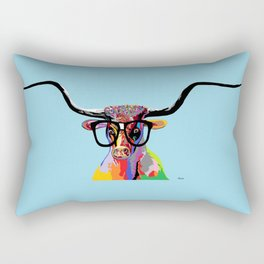 Hipster Longhorn Rectangular Pillow