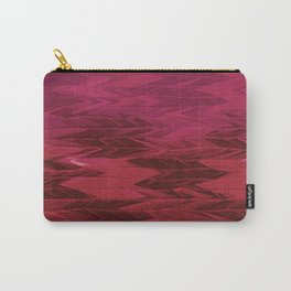 Red Faded Chevron Carry-All Pouch