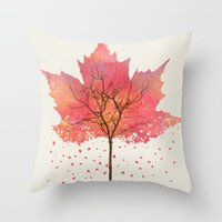 fall Throw Pillows featuring Fall by Dan Hess
