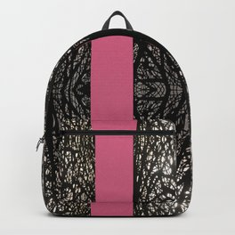 Gothic tree striped pattern pink Backpack