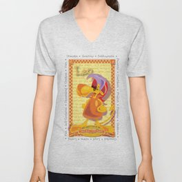 Astrological Zoodiac - Leo Unisex V-Neck