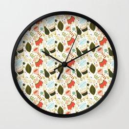 Patron floral Wall Clock