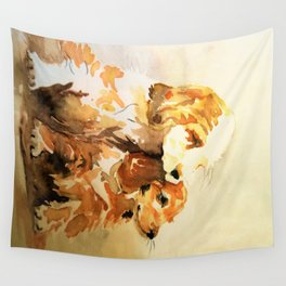 two dogs spaniel Wall Tapestry