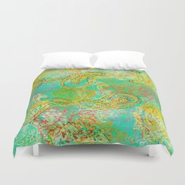 Paisleys and Blooms Duvet Cover