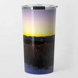 Mountain view Sunset Travel Mug