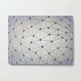 Cryptocurrency network Metal Print
