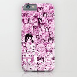 Ahegao Hentai Collage pink iPhone Case