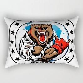 MMA fighter bear Rectangular Pillow