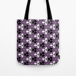 Decorative Bold Purple Geo Pattern Design Tote Bag