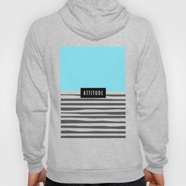 Design Blue Stripes Attitude Hoody