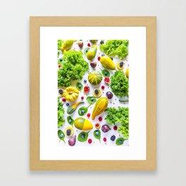 Fruits and vegetables pattern (1) Framed Art Print