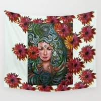 chakra Wall Tapestries featuring Chakra Sadhna by Harsh Malik