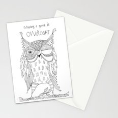 everything is gonna be owlright Stationery Cards