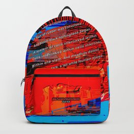 Cells Interlinked - Bold Red and Blue Backpack