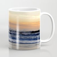 south africa Mugs featuring Sunset Beach - South Africa by The 3rd Eye