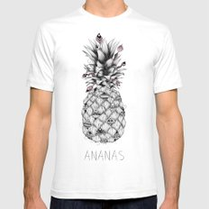 Ananas Pink Mens Fitted Tee SMALL White